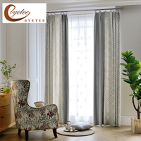 Byetee Modern Chinese Jacquard Shading Curtain Fabrics Fabric Kitchen Blackout Luxury Curtains For Bedroom Living