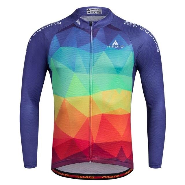 4f2802fa5 Maillot Mens Cycling Jerseys Long Sleeve Shirts Bike MTB Road Ropa Ciclismo  Cycling Clothing S-4XL