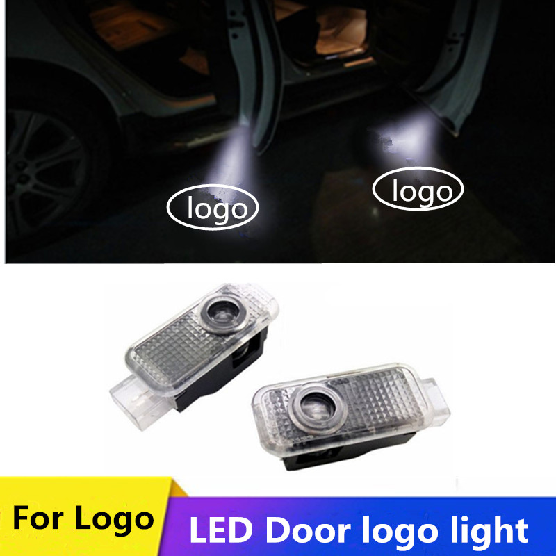 2Pcs LED Logo Door Projectors for <font><b>Audi</b></font> A4 B6 B8 <font><b>A6</b></font> C5 C7 A3 A5 Q3 S line TT Quattro Courtesy Ghost Shadow Welcome Light Car Lamp image