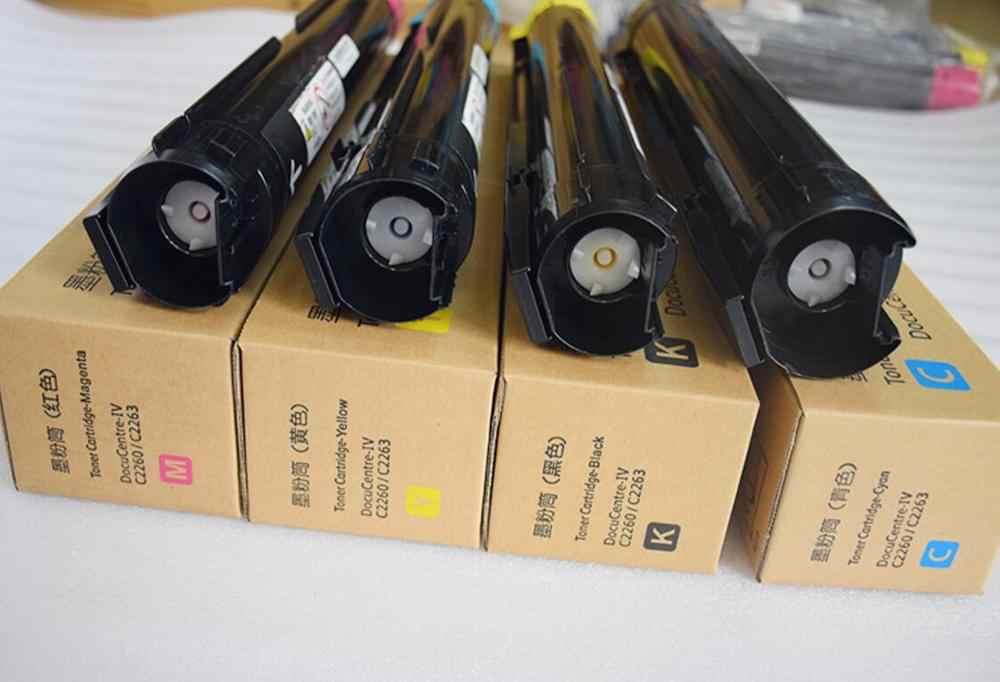 Nuevo cartucho de tóner de color de copiadora compatible para xerox docucenter C2260 C2263 C2265 kit de tóner de impresora KCMY 4 pc/lote