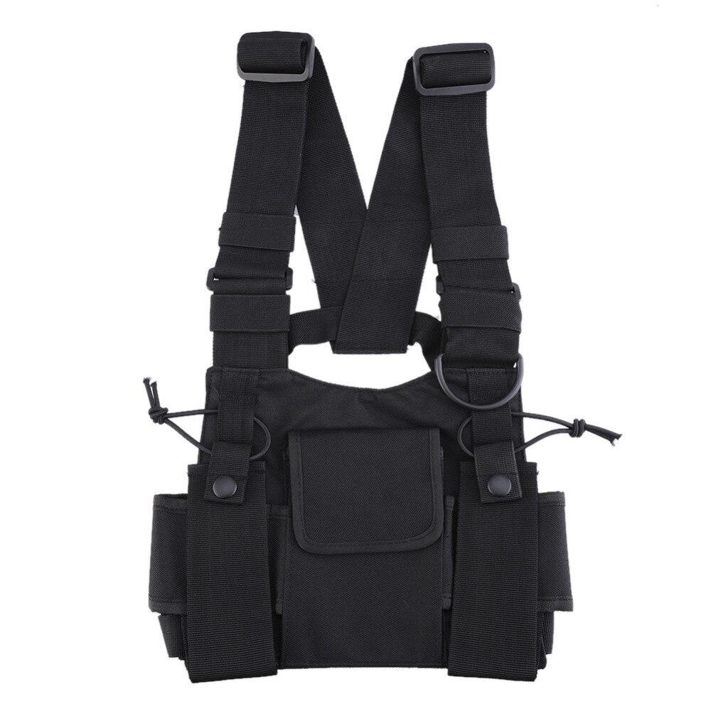 Nylon radio de dos vías bolsa paquete pecho bolsillo walkie talkie bolsa carry CASE para Motorola CP040 para baofeng UV-5R 1 unids