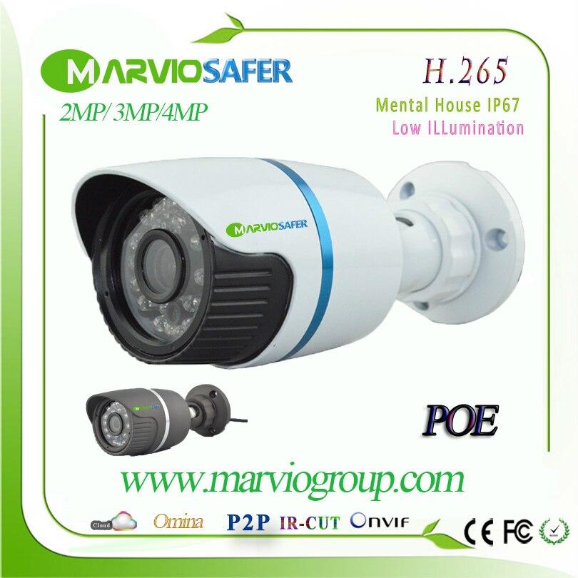 imágenes para H.265/H.264 2MP/4MP en tiempo Real Full HD 1080 P POE Bala Al Aire Libre Cámara de Red IP CCTV Camara de video de Seguridad IPCam Onvif RTSP