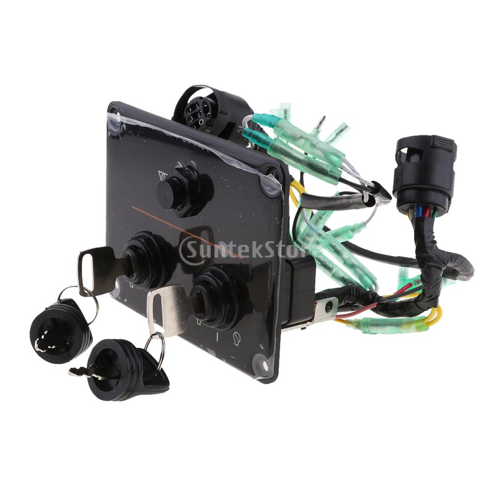Dual Key Switch Panel Twin 12v For Yamaha Outboard 6k1 82570 Fuel Tank Wiring 13