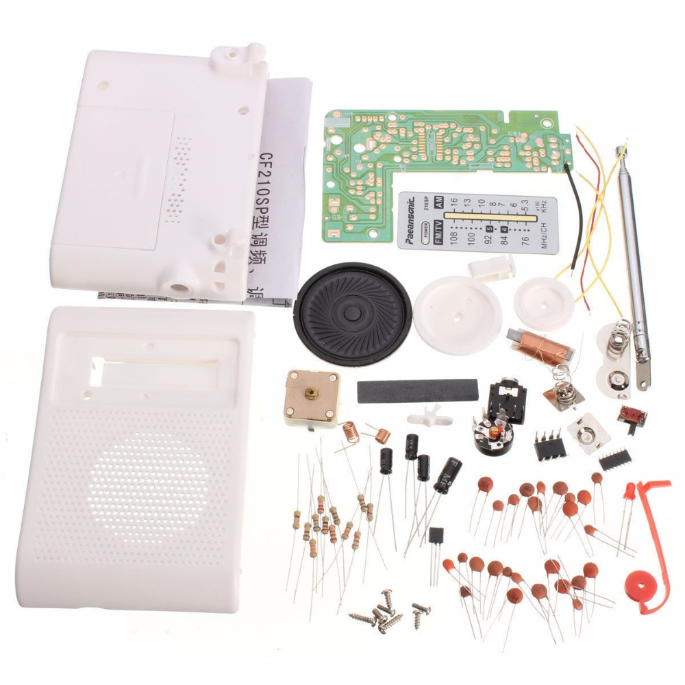 AM FM Radio Kit Parts CF210SP Suite For Ham Electronic Lover Assemble DIY 1set 100%new am fm stereo am radio kit diy cf210sp electronic production suite