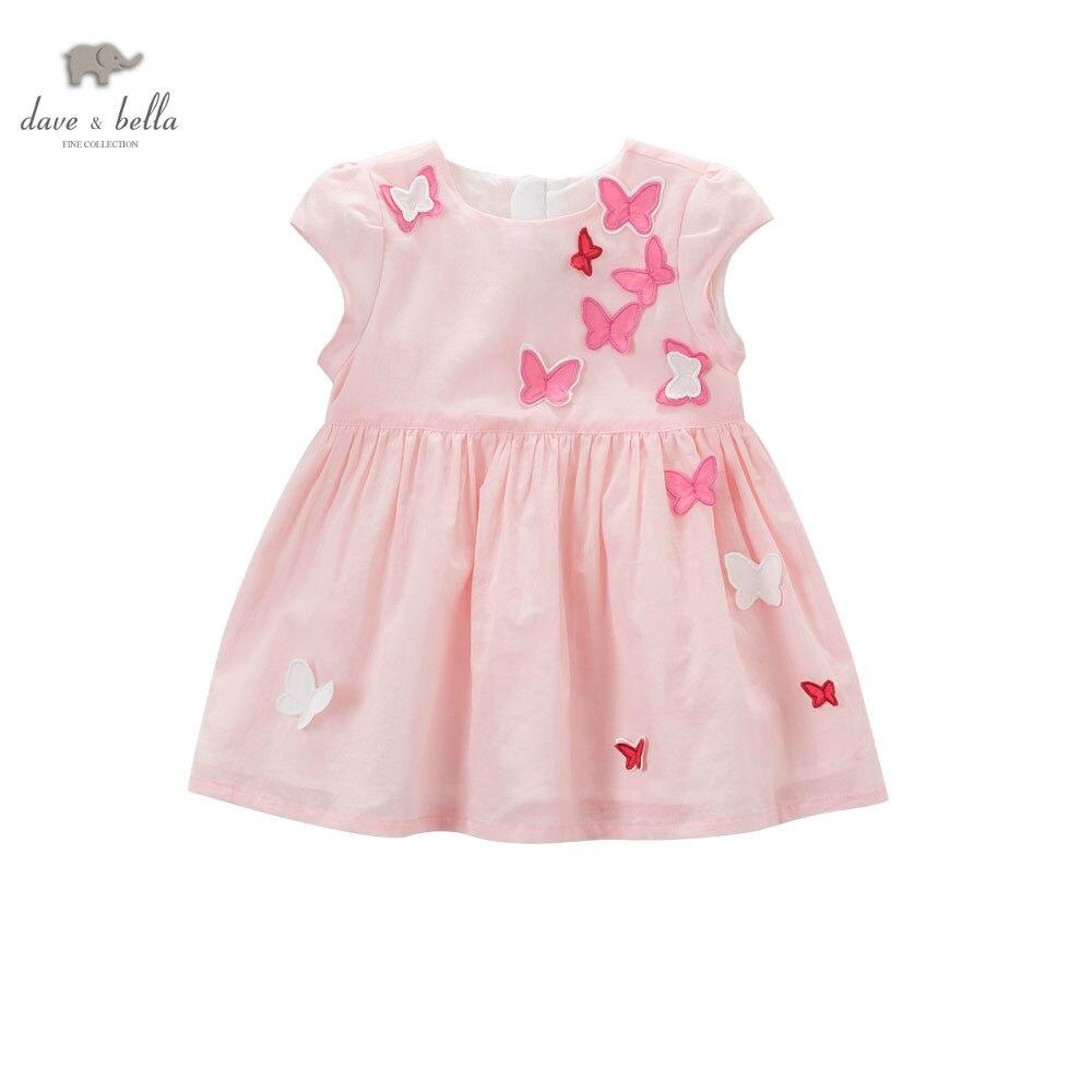 DB5067 dave bella princesa del verano del bebé vestido de mariposa ...