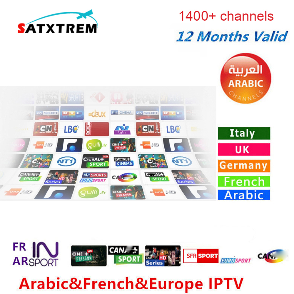 купить SATXTREM 6/12 Months 1400+ Live TV IPTV M3U ENIGAM2 Androd IPTV ITALY German French Spain TR UK IT MEDIASET PREMIUM For TV BOX недорого