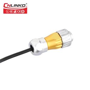 Image 5 - DH serisi M24 RJ45 bağlantı noktası priz su geçirmez konnektör pense Cat6 Metal süngü 8Pin Ethernet RJ45 sinyal konnektör kablosu
