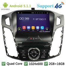 Quad Core 8″ HD 1024*600 Android 5.1.1 Car Multimedia DVD Player Radio Stereo 3G/4G WIFI USB GPS Map For Ford Focus 3 2011-2014