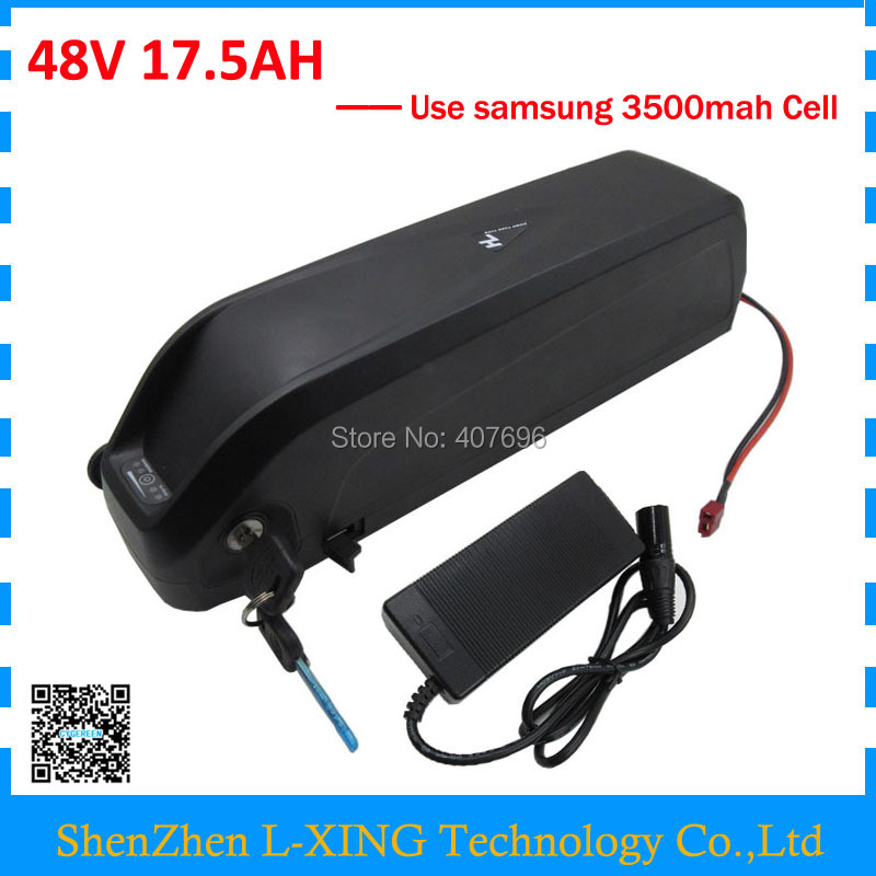 US EU No Tax Hailong battery with USB Sam 35E cell 48V 17.5Ah Li-ion electric bike battery for Bafang 1000W BBSHD motor kit free customs taxes super power 1000w 48v li ion battery pack with 30a bms 48v 15ah lithium battery pack for panasonic cell