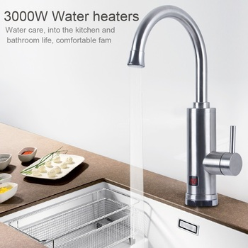 Stainless Tap Instant Heating Tap for Kitchen Instantaneous Water Heater Faucet With Temperature Display