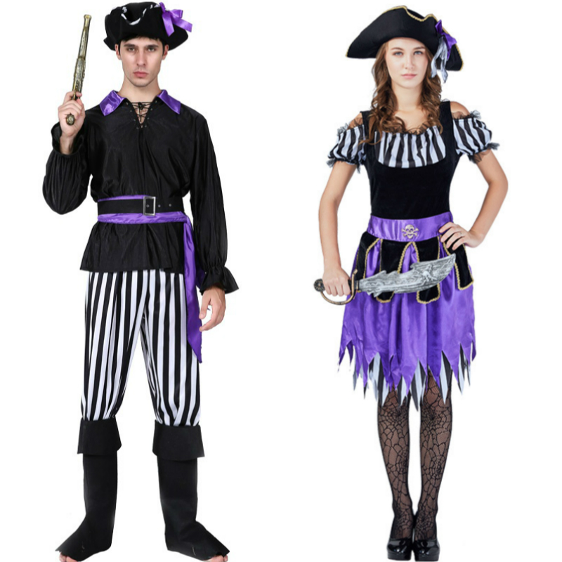Women Dress Cosplay for Pirates of the Caribbean 18 Style Men Suit Set Adult Costume in Masquerade Party Carnaval Halloween