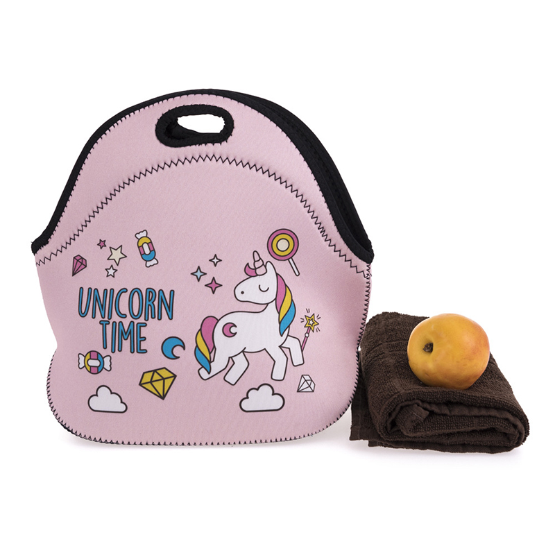 Yesello Rubber Unicorn lunch storage bag Portable Ice Bags Cooler Lunch Bag Leisure Picn ...
