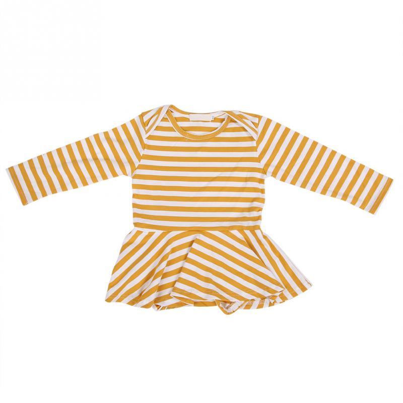От 0 до 18 месячный ребенок, Детский боди с длинными рукавами для девочек, хлопковый наряд из трех предметов с рюшами и рукавами-крылышками, комбинезон с открытой промежностью - Цвет: Цвет: желтый