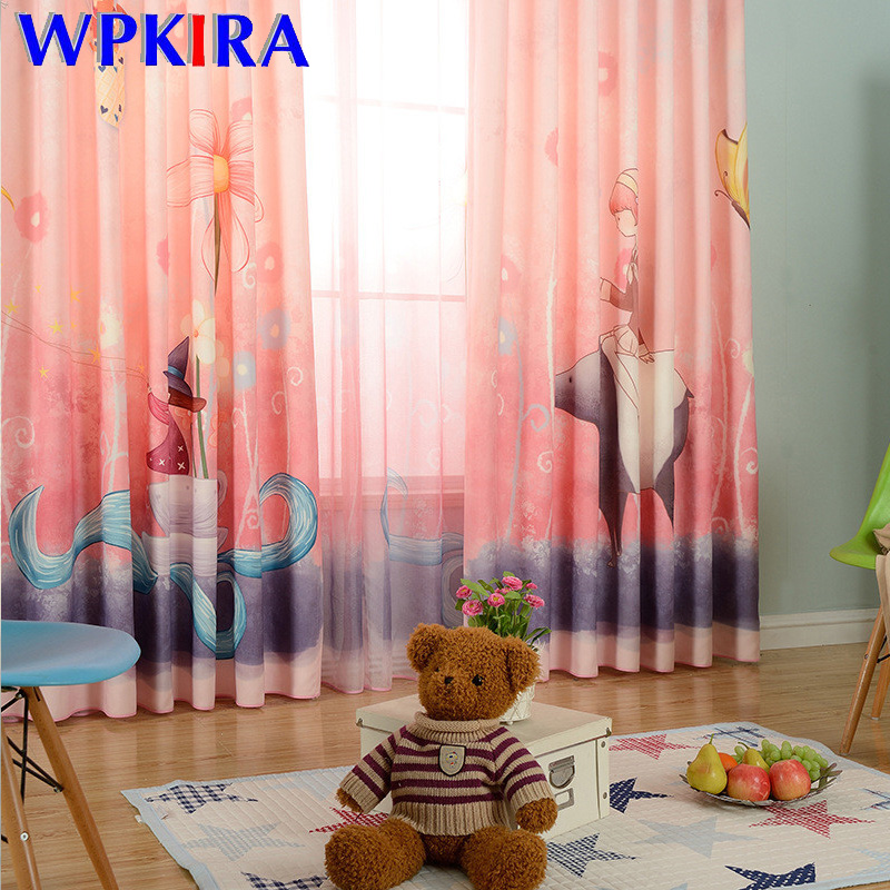 Lovely Cartoon Pattern Curtains For Children Baby Girl Bedroom Window Screen Tulle Curtain For Living Room New Arrived FQ16D3