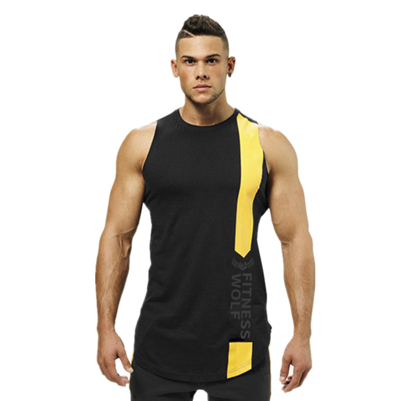 Animal Gyms   Tank     Top   Men Workout Clothing Bodybuilding Stringer Men Muscle Vests Cotton back Singlets debardeur fitness homme