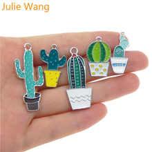 Julie wang 5 шт смешанные эмалированные растения в горшке кактус
