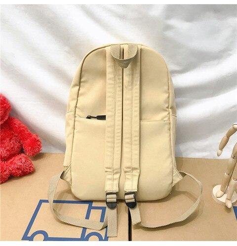 HTB1N1F5XUY1gK0jSZFMq6yWcVXa7 Nylon Backpack Women Backpack Solid Color Travel Bag Large Shoulder Bag For Teenage Girl Student School Bag Bagpack Rucksack