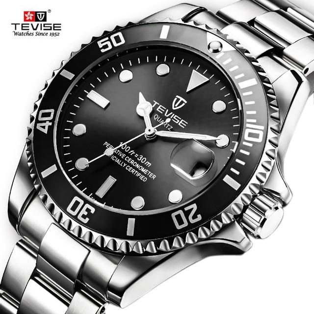 Tevise Mens Watches Top Brand Quartz Watches Men D