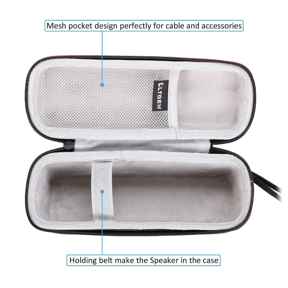 LTGEM EVA Hard Case For Anker Soundcore Motion B Portable Bluetooth Speaker - Travel Protective Carrying Bag