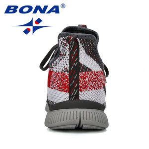 Image 2 - BONA 2019 ใหม่ฤดูร้อนChaussure Hommeกลางแจ้งชายรองเท้าวิ่งรองเท้าตาข่ายรองเท้าผ้าใบManกีฬารองเท้ารองเท้าชายรองเท้า