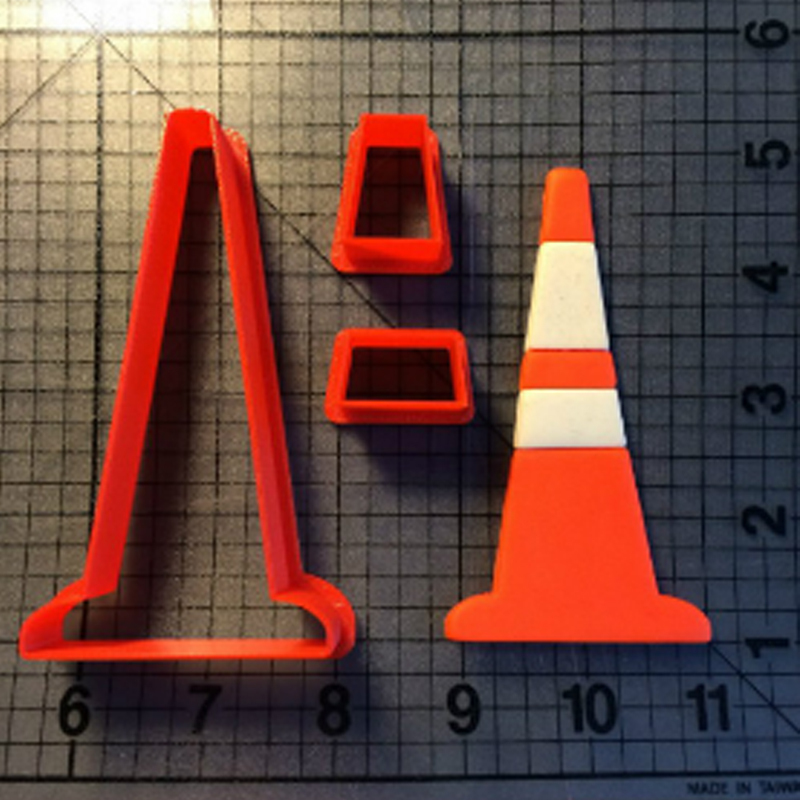 Hot sales Traffic Cone Light Sign Cookie Cutter Fondant Cake Decorating Tools Custom Made 3D Printed Cookie Cutter Set for Cake in Cookie Tools from Home Garden