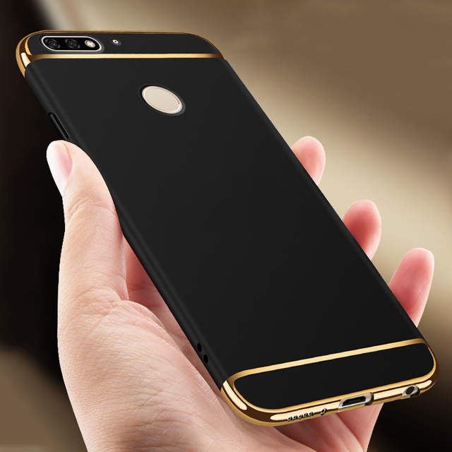 promo code 7e603 a235f US $3.35 |Luxury 3 in 1 Hard Hybrid Back Case For Huawei Honor 7C 7 C AUM  L41 Russian Version Case 5.7