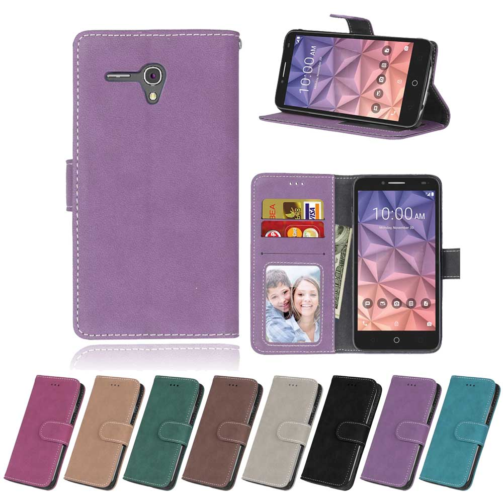 Flip Phone Leather Cover For Alcatel One Touch Pop 3  5 5 U0026quot   5025g 5025e 5025x 5025d 5025n 5054a