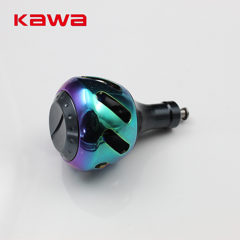 2017 Kawa Fishing Knob, Alloy Alluminum,For Spinning Reel 3000-8000 Type, Rainbow Color  ...