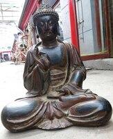 30 Китай старого дерева лак скульптура ручной работы буддизм статуя Будды Шакьямуни подарок художественных промыслов украшения
