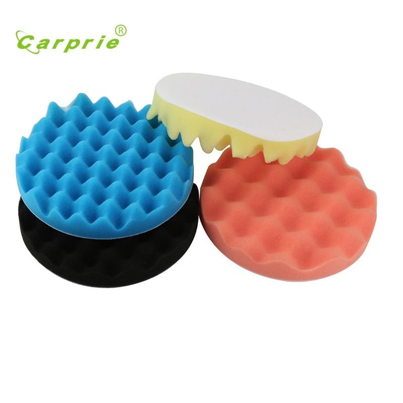 Car Polishing Wash 4pcs 7inch Brush Set Sponge Waxing Washing Buffing Pads Kit Esponja polida Esponja de pulido styling 17sep1