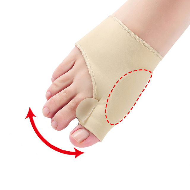 1Pair Big Bone Orthopedic Bunion Correction Pedicure Socks Silicone Hallux Valgus Corrector Braces Toes Separator Feet Care Tool 1