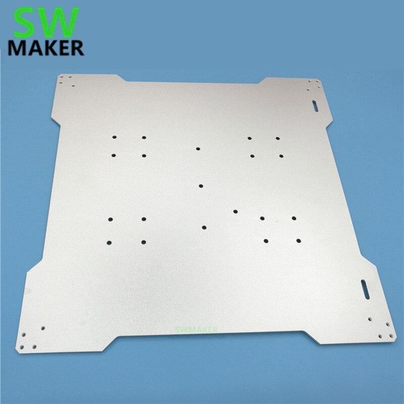SWMAKER lulzbot TAZ 3D プリンタ Reprap ベッドプレートマウント 300x300 ミリメートル diy 3D プリンタアルミベッドマウントプレート 3 ミリメートル厚さ  グループ上の パソコン & オフィス からの 3Dプリンタパーツ & アクセサリ の中 1