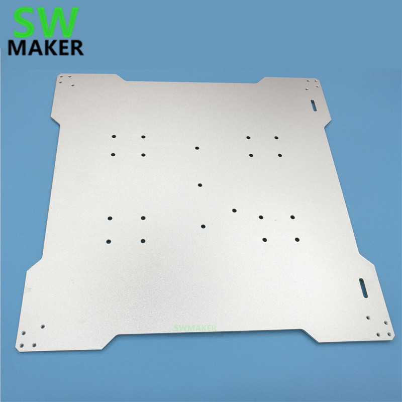 SWMAKER lulzbot TAZ 3D imprimante Reprap lit plaque de montage 300x300mm pour bricolage imprimante 3D en aluminium plaque de montage de lit épaisseur 3mm-in 3D Printer Parts & Accessories from Ordinateur et bureautique on AliExpress - 11.11_Double 11_Singles' Day 1