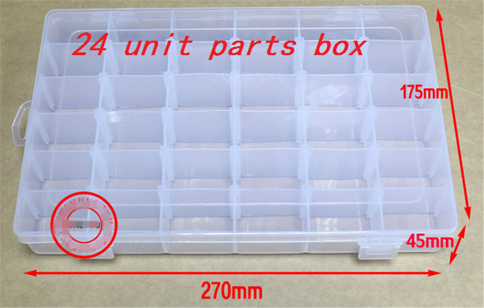 1Pcs  Parts box, electronic parts box, multi-function storage box, you can split the free adjustment 36 lattice Parts box uwinka mc u6c multi in 1 water resistance shockproof memory card storage box red