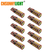 Cnsunny светильник 10 шт. светодиодный лампы W5W T10 168 192 4014 27SMD автомобиля светодиодный CANBUS автомобильной стоянки светильник боковой сигнал лицензии светильник Инж