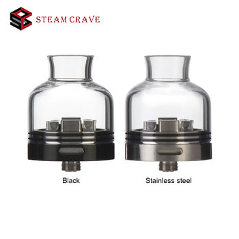 New Steam Crave Glaz RDSA 30mm with Pure Glass Top Cap & 510 Squonk Pin Rebuildable Dripping Squonking Atomizer E-cig Vape Tank
