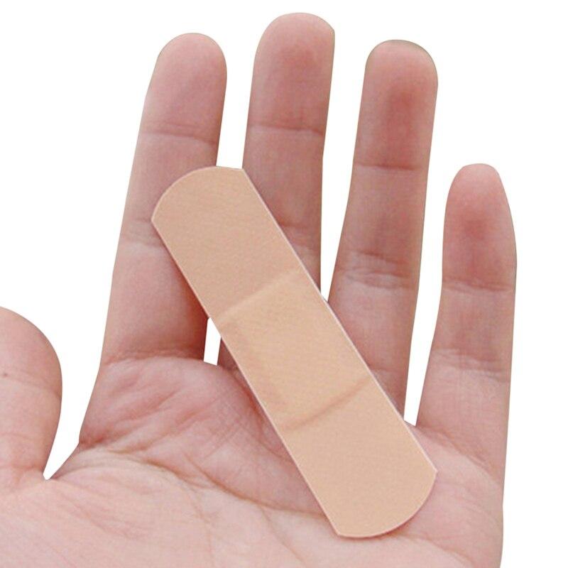 100Pcs Waterproof Breathable Band Aid Medical PE Waterproof Tape Hemostasis Adhesive Bandages First Aid Emergency Kit