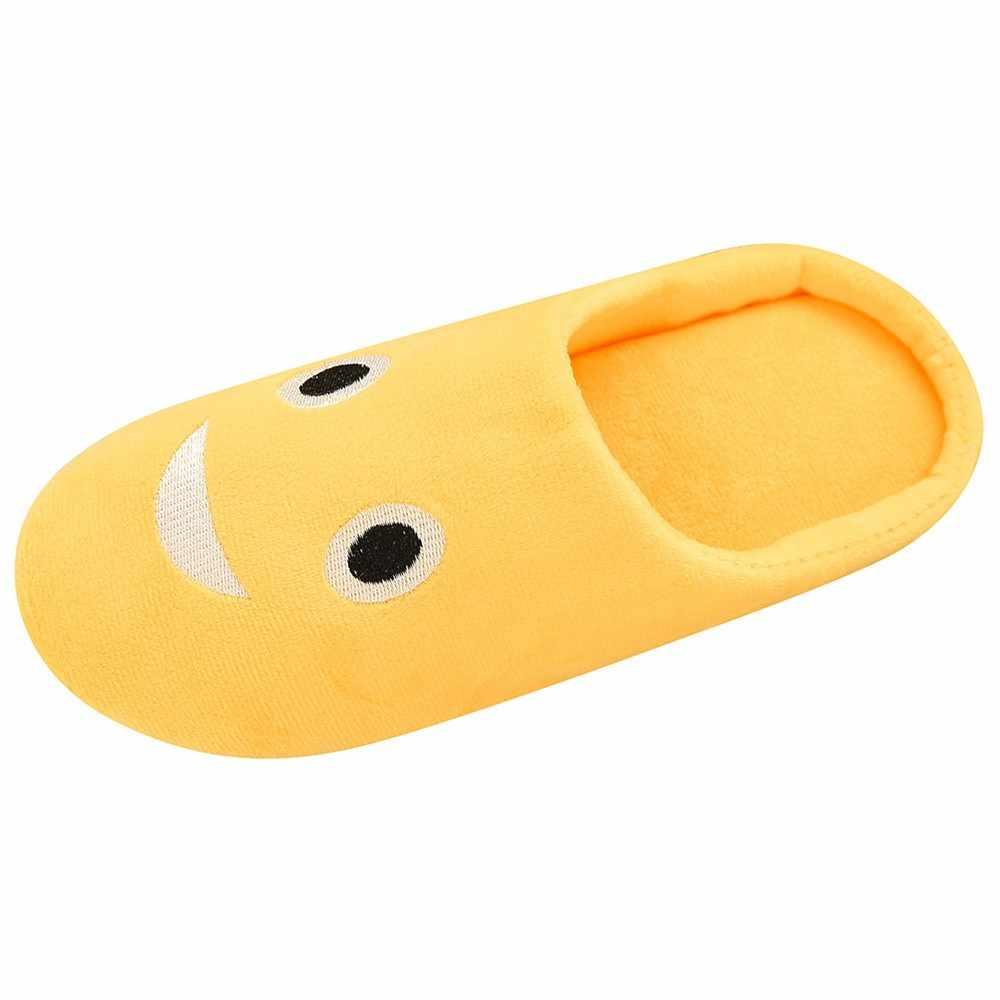 Schoenen Vrouwen Slippers Zachte Fluwelen Indoor Vloer Uitdrukking Sneakers Leuke Emoji Thuis Schoen Zachte Bodem Winter Warm Schoenen voor Slaapkamer
