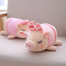 25cm Cute Lovers pig plush toys Bow pig animals doll Pillow Baby Appease Sleeping Doll Cotton Girl Brinquedo Toy