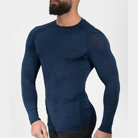 2017 Mens Long Sleeved T Shirt New Autumn Fashion Brand Men Clothes Slim Fit Male Gyms