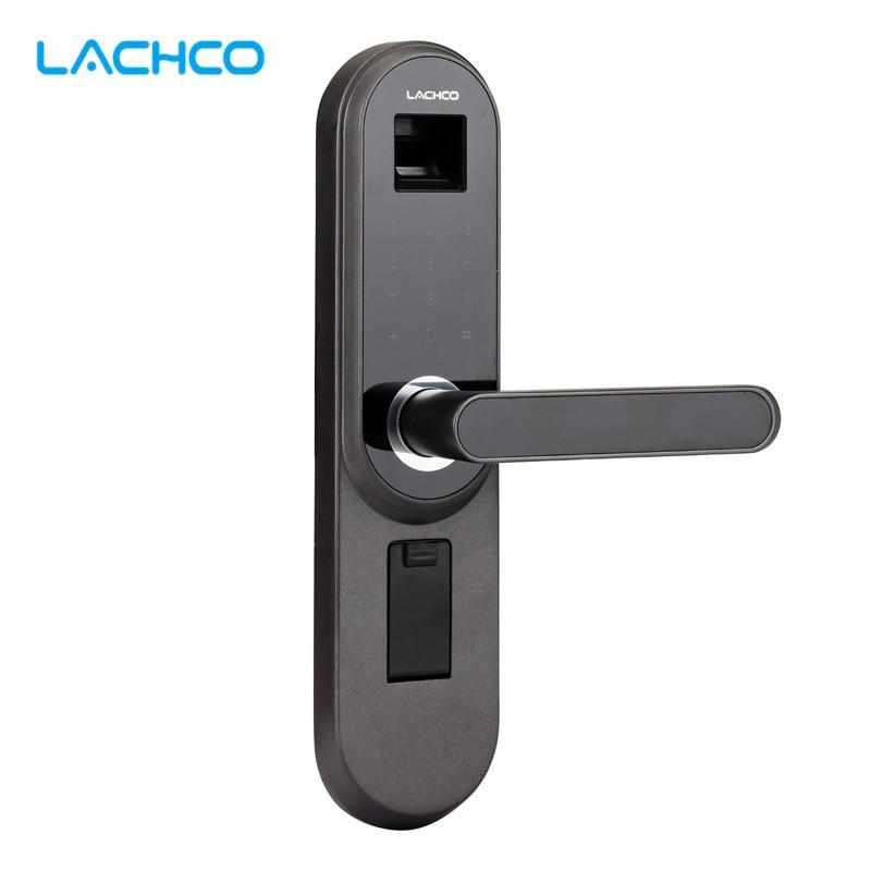 LACHCO Biometric Electronic Door Lock Smart Fingerprint, Code, Key Touch Screen Digital Password Lock L17013MB