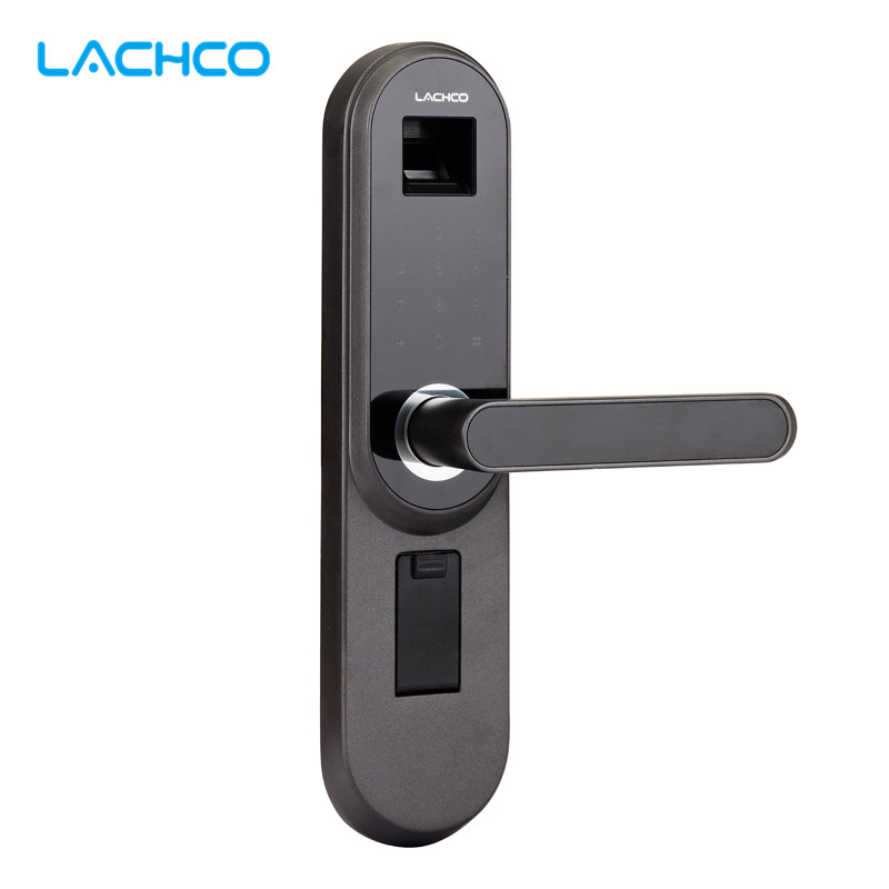 LACHCO Biometrische Elektronische Türschloss Smart-Fingerprint, Code, Schlüssel Touch Screen Digital Passwort Lock L17013MB