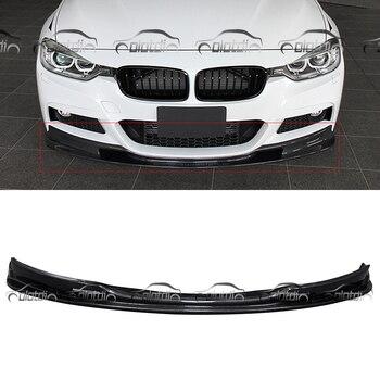 3D Style Serat Karbon Bibir Depan Bumper Spoiler untuk BMW F30 M-Tech M Olahraga Paket