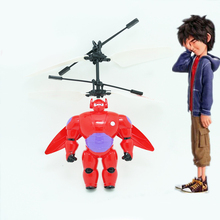 New Style Baymax Big Hero Infrared Induction Aerocraft NO.10023 With Big Hero Egg Kids Toy Best Child Christmas Gifts