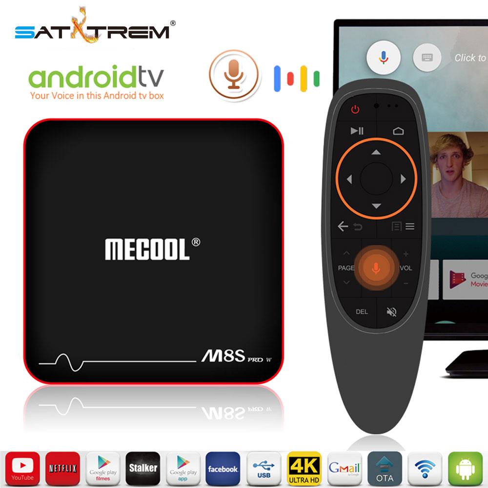 Mecool M8S PRO W Controllo Vocale Smart TV Box Android 7.1 Amlogic S905W 2 gb DDR3 IPTV Stalker Set- top Box PK X96 H96 Pro TX3 A95X