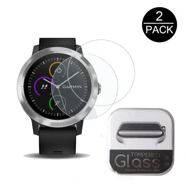 2 יחידות עבור Garmin Vivoactive 3 מגן מסך Ultra Clear 9 H Vivoactive Garmin 3 פיצוץ זכוכית מחוסמת סרט