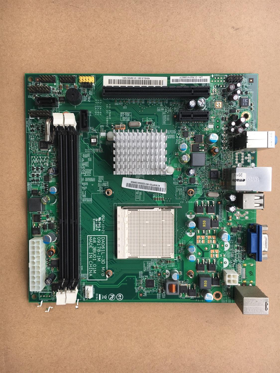 Used,EL1350 motherboard DA061L-3D mini 20 * 20 AM3 DDR3 small chassis motherboard,100% tested good цена