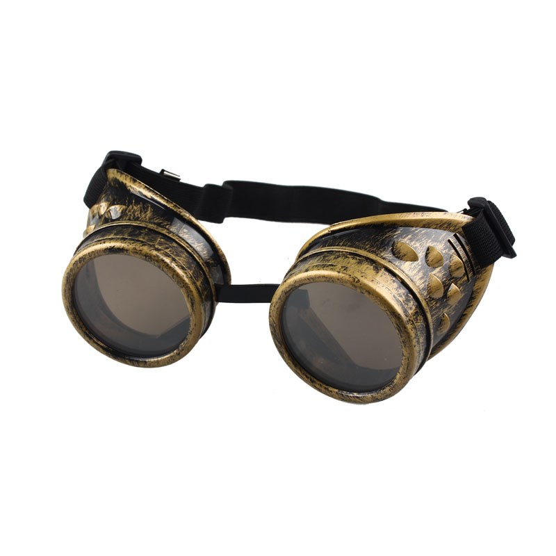 #5 Vintage Style Steampunk Goggles Welding Punk Glasses Cosplay/Black