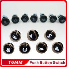 Wholesale 16mm Custom Symbo Latching Self-locking  Waterproof aluminum oxide Metal Push Button Switch  3V 5V 12V 24V  220V LED цены