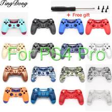 Replacement For Sony PS4 Pro Wireless Controller Plastic JDS 040 Cover Front Back Housing Shell Case(China)
